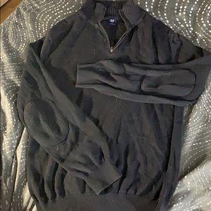 Black zip up turtleneck sweater